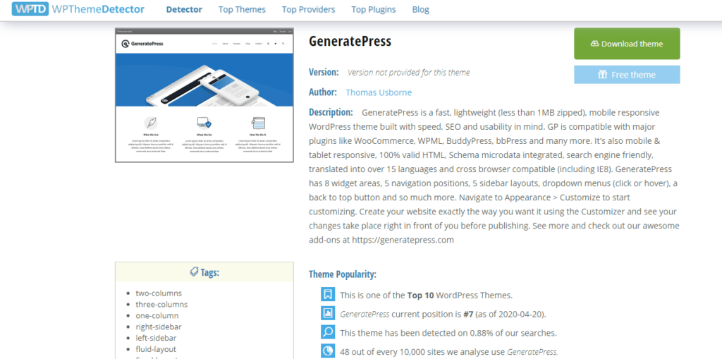 wp theme detector,identify wordpress theme